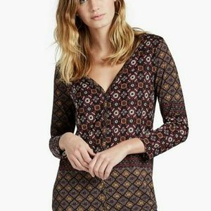 Lucky Brand Tops - Lucky Brand | Placed Mosaic Print Too